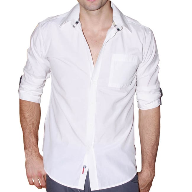 191 Unlimited Men's White Collared Shirt
