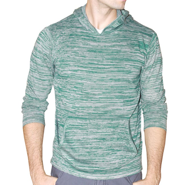 191 Unlimited Men's Green Heathered Hoodie - Thumbnail 0