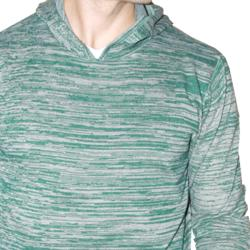 191 Unlimited Men's Green Heathered Hoodie - Thumbnail 2