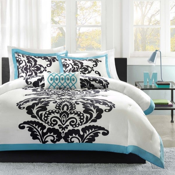 comforter products pattern on best sets set blue queen in lattice teal wanelo cotton reversible shop full white