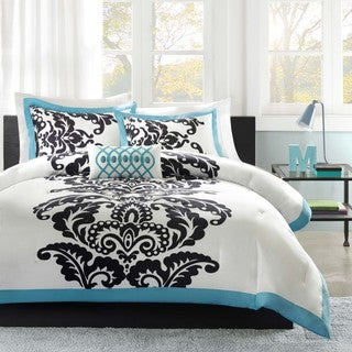 Mi-Zone Santorini Teal 4-piece Comforter Set