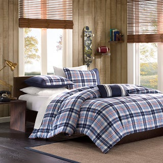 Mi Zone Alton Plaid Blue 4-piece Comforter Set (2 options available)