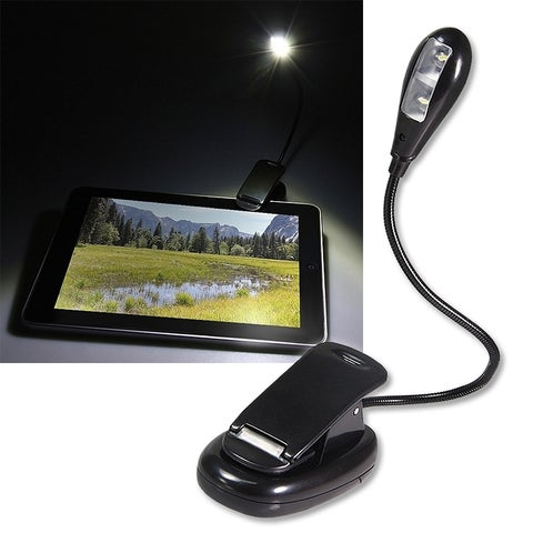 INSTEN Black Flexible Book Reading LED Light with Clip