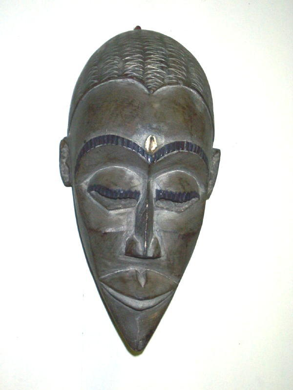 Asante Hand-crafted Wooden Royal Mask  , Handmade in Ghana - Thumbnail 1