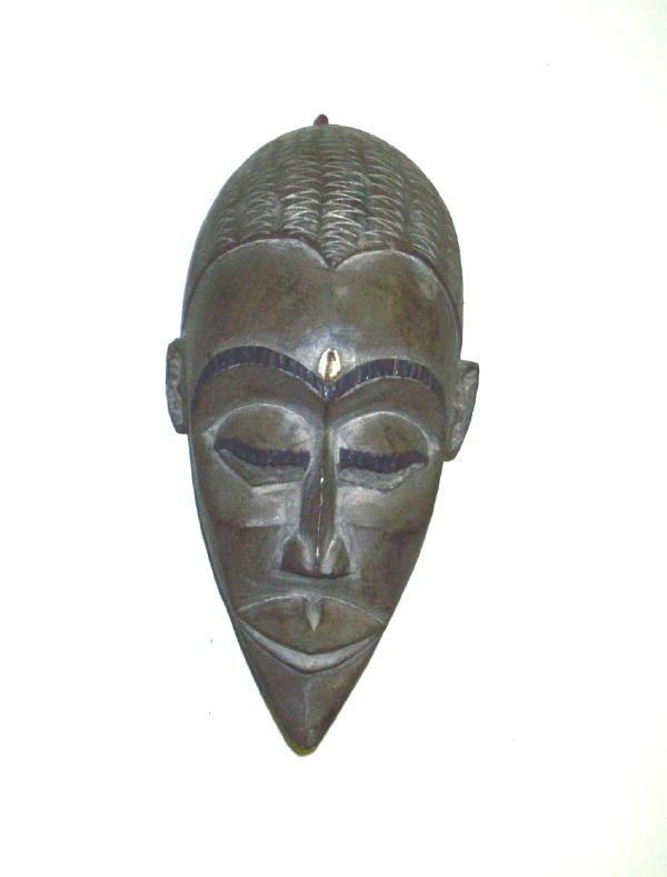 Asante Hand-crafted Wooden Royal Mask  , Handmade in Ghana - Thumbnail 2