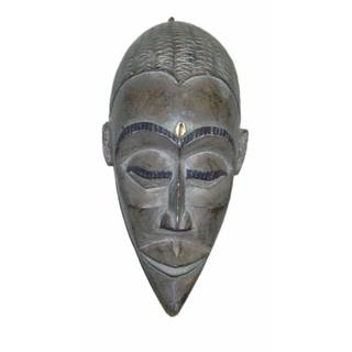 Asante Hand-crafted Wooden Royal Mask  , Handmade in Ghana