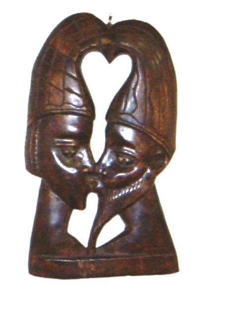 Lovers Profile Wooden Wall Hanging (Ghana)