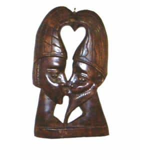 Handmade Lovers Profile Wooden Wall Hanging (Ghana)|https://ak1.ostkcdn.com/images/products/663067/P946013.jpg?impolicy=medium