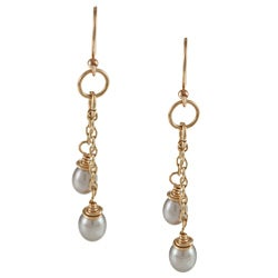 Charming Life 14k Goldfill Silver FW Pearl Cascade Earrings (5-7 mm)