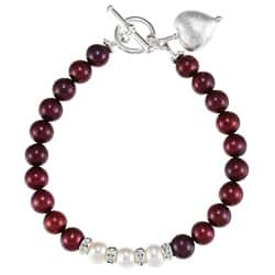 Lola's Jewelry Silverplated Red and White Pearl Heart Bracelet (7-8 mm)|https://ak1.ostkcdn.com/images/products/6630947/Charming-Life-Silverplated-Red-and-White-Pearl-Heart-Bracelet-7-8-mm-P14196277.jpg?impolicy=medium