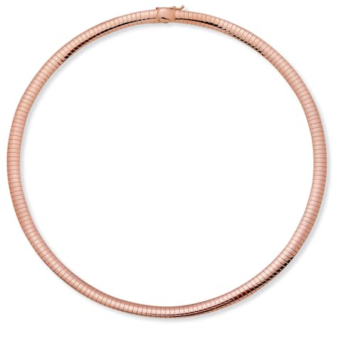 Rose Gold-Plated, 18-inch Omega Link Choker (Tailored)
