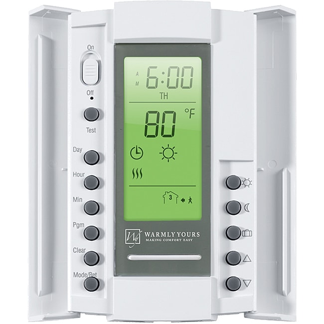 Smartstat White Dual Voltage 120 240 Volt Thermostat With