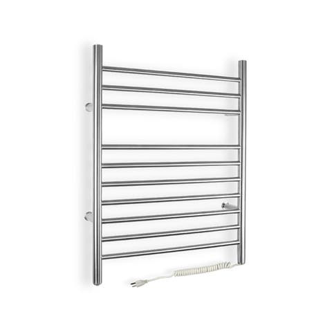 Warmly Yours Infinity Model Plug-in Stainless Steel Towel Warmer - Silver