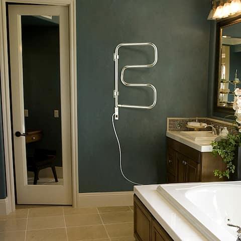 4-Bar Plug In Element Towel Warmer - Silver