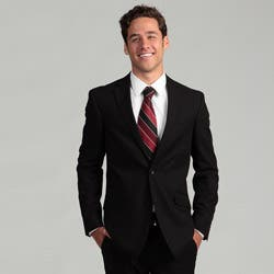 Billy London Slim-fit Suit Separates Notched-collar Solid Black Coat https://ak1.ostkcdn.com/images/products/6631876/Billy-London-Slim-fit-Suit-Separates-Notched-collar-Solid-Black-Coat-P14196857.jpg?impolicy=medium