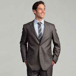 Billy London Grey Subdued Plaid Suit Separates Coat