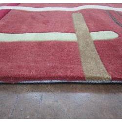 Hand-tufted Chalice Rust Rug (2' x 3') - Thumbnail 1
