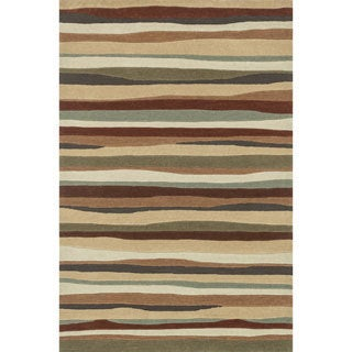 Hand-tufted Chalice Spice Stripes Rug (2' x 3')