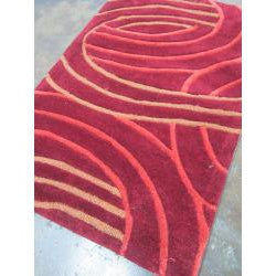 Hand-tufted Chalice Red Rug (2' x 3')