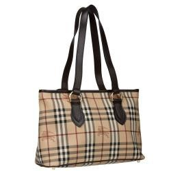 Shop Burberry Medium Haymarket Check Tote Bag - Free Shipping Today ... ace0aa178b413