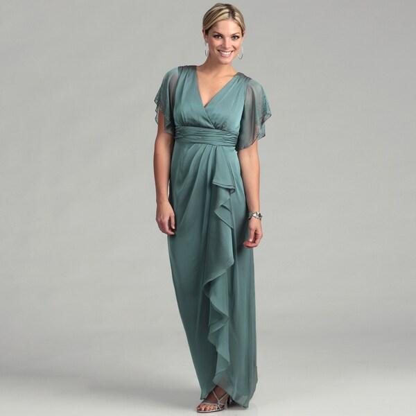 Adrianna Papell Women's Dew Chiffon Beaded Dress