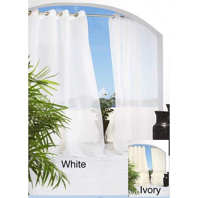 Escape Grommet Top 84 inch Indoor/Outdoor Voile Curtain Panel Pair