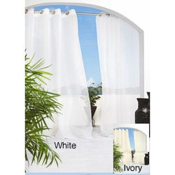 Escape Grommet Top 84 inch Indoor/Outdoor Voile Curtain Panel Pair