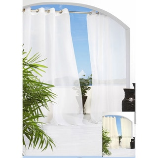 Escape Grommet Top 84 inch Indoor/Outdoor Voile Curtain Panel Pair - 54 x 84