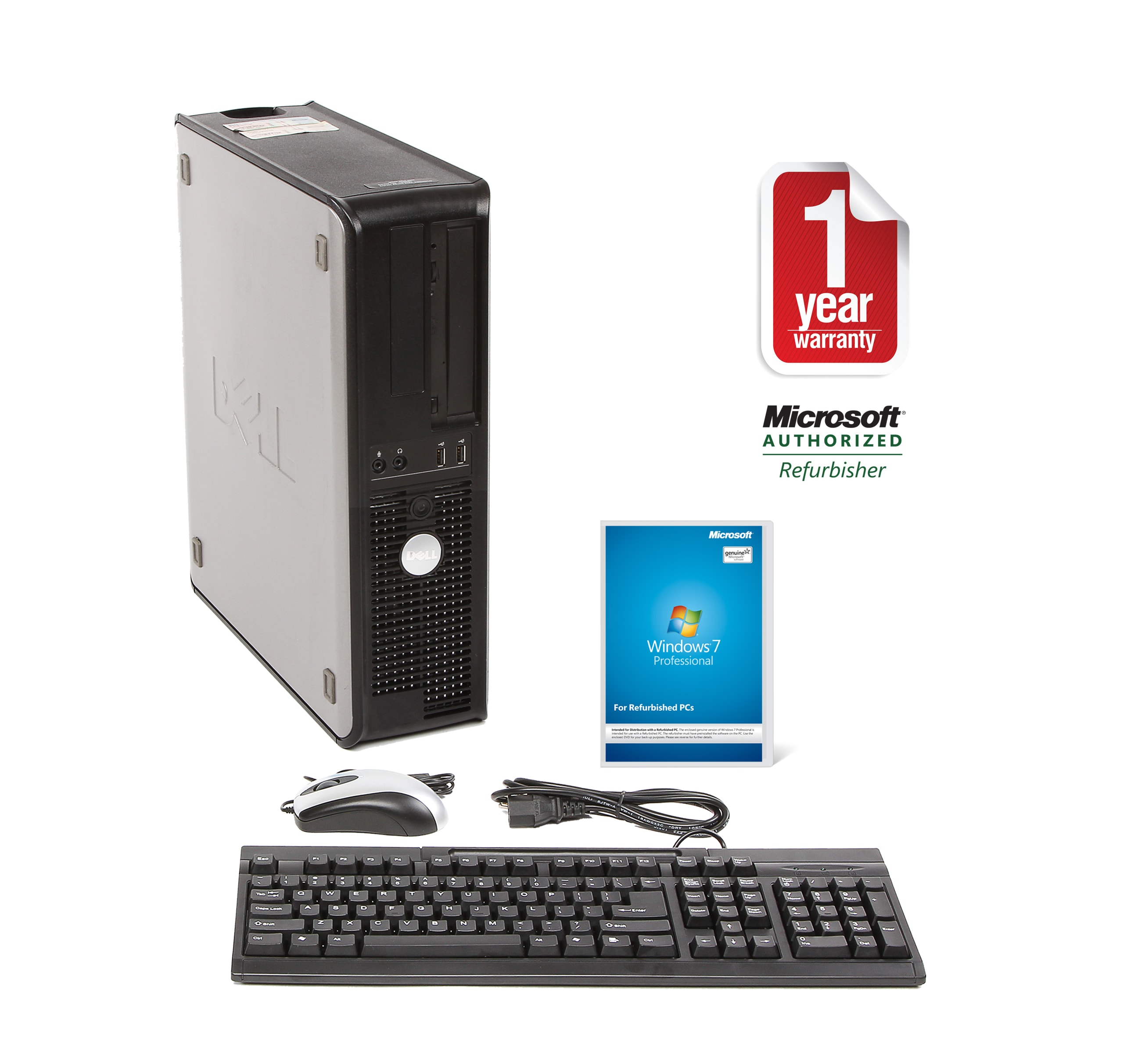 Dell Optiplex 740 AMD A64x2 2.6GHz CPU 4GB RAM 1TB HDD Windows 10 Pro Desktop PC (Refurbished)