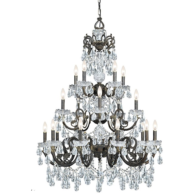 Crystorama Legacy English Bronze 20-light Crystal Chandelier