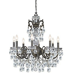 Crystorama Legacy English Bronze 8-light Crystal Chandelier