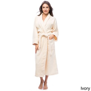 Superior Luxurious 100-percent Combed Cotton Unisex Terry Bath Robe