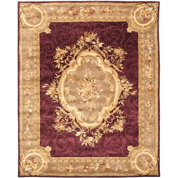 Safavieh Handmade French Aubusson Red Premium Wool Rug - 10' x 14'