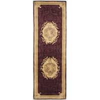 "Safavieh Handmade French Aubusson Red Premium Wool Rug - 2'6"" x 12'"