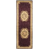 Safavieh Handmade French Aubusson Red Premium Wool Rug (2'6 x 8')