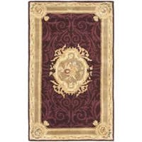 Safavieh Handmade French Aubusson Red Premium Wool Rug (3' x 5')