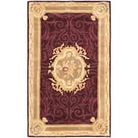Safavieh Handmade French Aubusson Red Premium Wool Rug - 3' x 5'