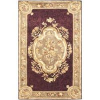 Safavieh Handmade French Aubusson Red Premium Wool Rug - 5' x 8'