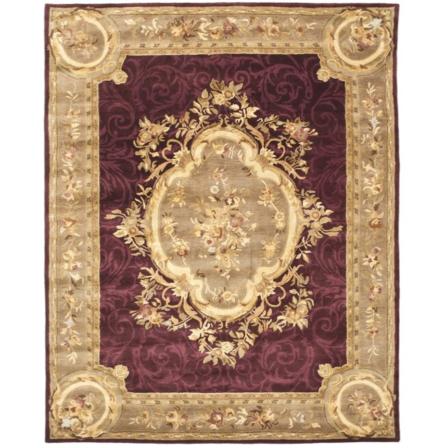 Safavieh Handmade French Aubusson Red Premium Wool Rug (6' x 9')