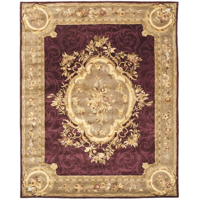 Safavieh Handmade French Aubusson Red Premium Wool Rug - 7'6 x 9'6