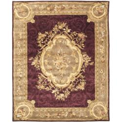 Safavieh Handmade French Aubusson Red Premium Wool Rug - 7'6 x 9'6 - Thumbnail 0