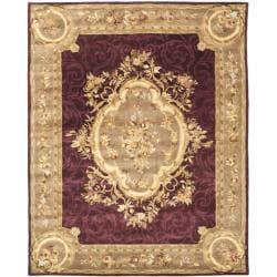 Safavieh Handmade French Aubusson Red Premium Wool Rug (7'6 x 9'6)