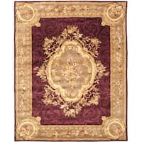 "Safavieh Handmade French Aubusson Red Premium Wool Rug - 7'6"" x 9'6"""