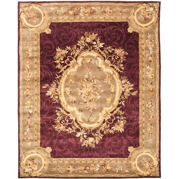"Safavieh Handmade French Aubusson Red Premium Wool Rug - 7'6"" x 9'6"""