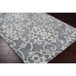 Hand-tufted Gray Summersetts Rug (8' x 11')
