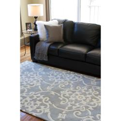 Hand-tufted Gray Summersetts Rug (8' x 11') - Thumbnail 2