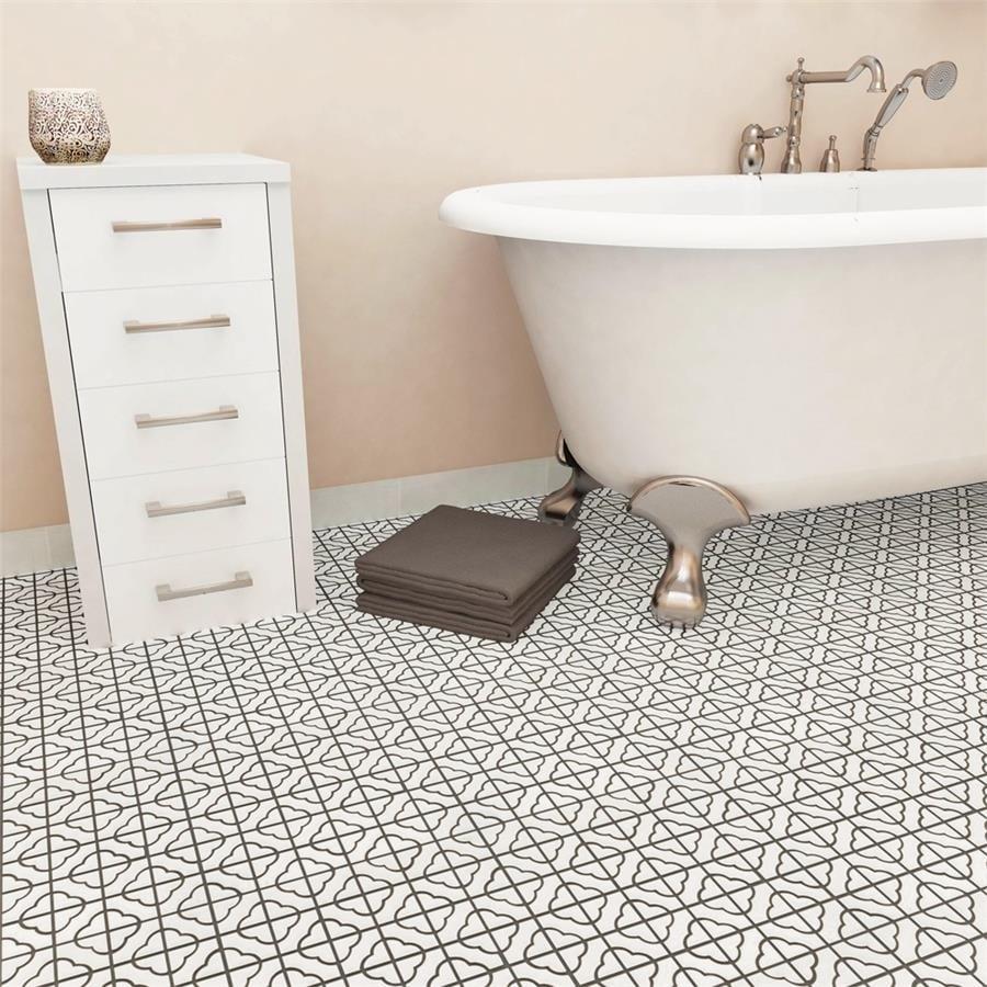 "Somertile Castle Porcelain Mosaic Floor and Wall Tile, White, 11.75""x11.75"""