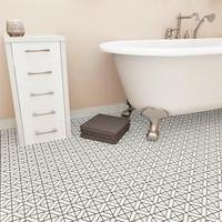 SomerTile 11.75x11.75-inch Castle White Porcelain Mosaic Floor and Wall Tile (10 tiles/9.79 sqft.)
