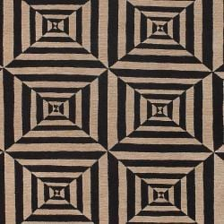 Hand-knotted Beige Bodin Hand Carded New Zealand Wool Rug (5' x 8') - Thumbnail 1