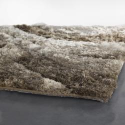 Artist's Loom Hand-woven Shag Rug (5' x 7'6) - Thumbnail 2